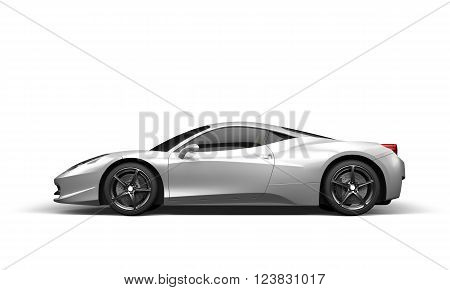 Super sport car on white background 3D illustration