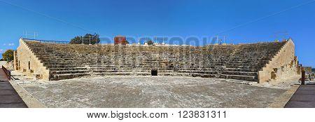 Ancient Roman theatre, Kourion archaeological park near Limassol, Cyprus