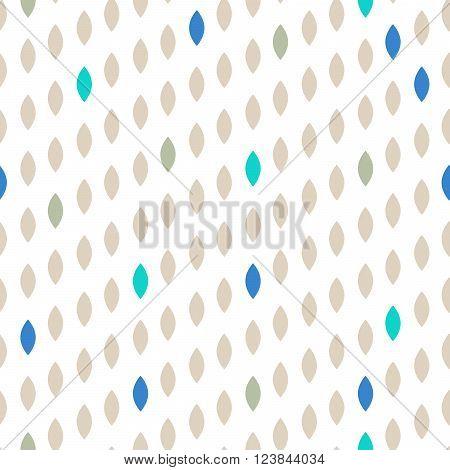 Simple drop polka dot beige shape seamless pattern. Vector geometric row background. Polkadot pattern. Dotted scandinavian ornament.