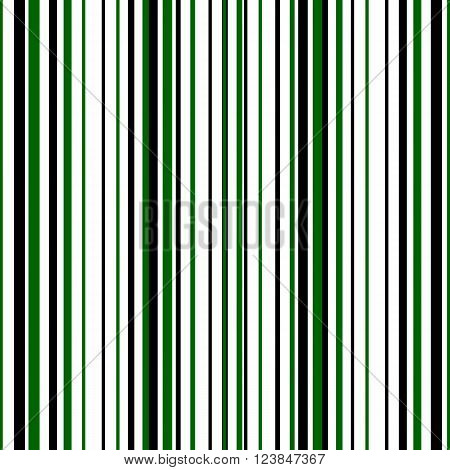 Seamless pattern of black and green stripes. Vector illustration. Composition rhythm alternating bands.