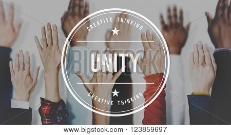 Unity Teamwork Togetherness Support Partnership Concept