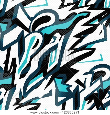abstract seamless pattern graffiti in gentle colors vector illustration abstract high quality