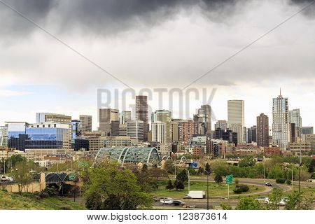 Skyscrapers In Denver Downtown, Colorado