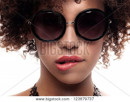 Young Girl With Afro Posing.