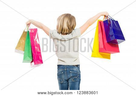 Young And Blonde Shopping Girl From Behind