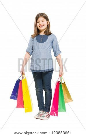 Young And Joyful Shopping Girl