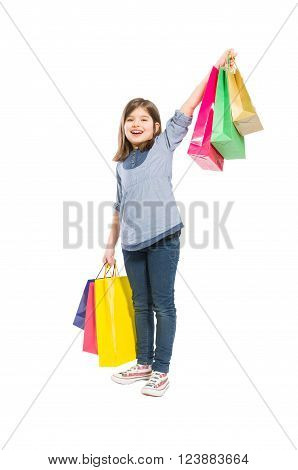 Young And Cheerful Shopping Girl