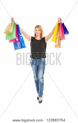 Satisfied Shopping Woman