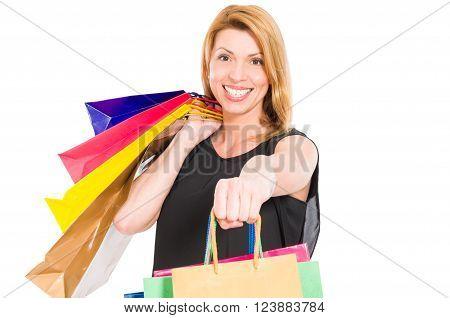 Cheerful Female Shopper