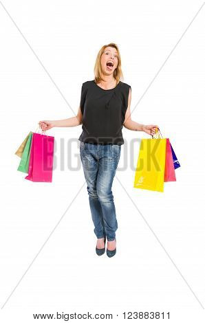 Shopping Woman Acting Crazy