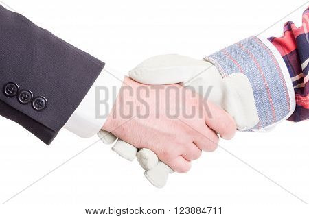 Builder And Contractor Hand Shake