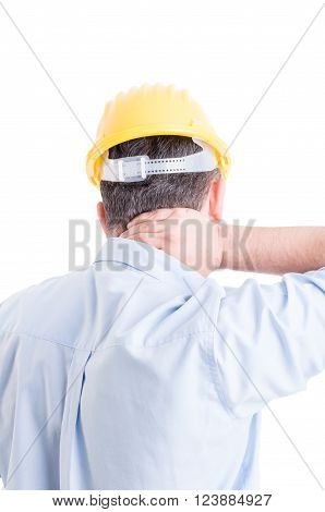 Engineer Suffering From Back Neck Pain