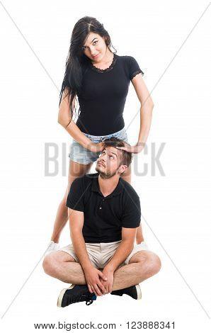 Bossy Girlfriend With Handsome Boyfriend