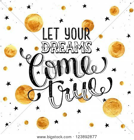 Inspirational Print About Dreams