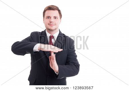 Business Manager Or Businessman Showing Timeout Gesture