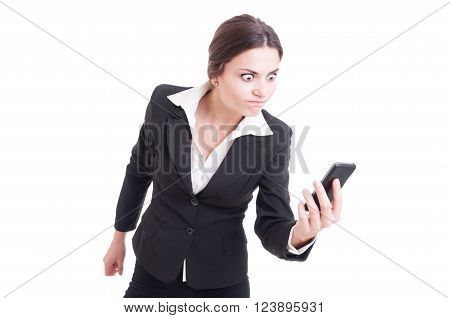 Bossy, Furious And Angry Business Woman On Live Video Call