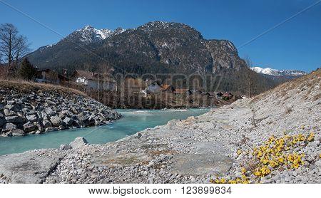 Loisach River, Flowing Through Garmisch-partenkirchen