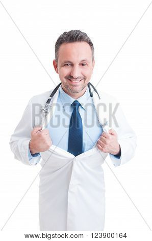 Medic Or Doctor Acting Like A Super Hero