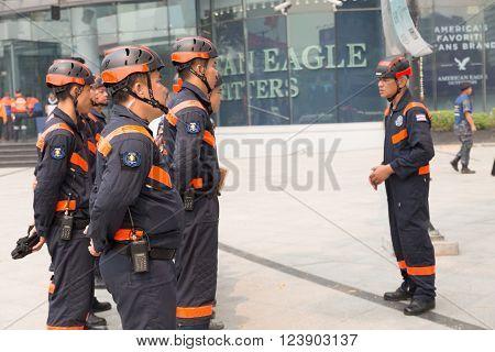 Paramedic In Mock Disaster Drill