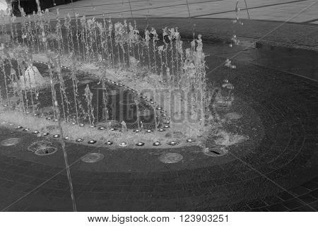 Water From Outdoor , Black And White