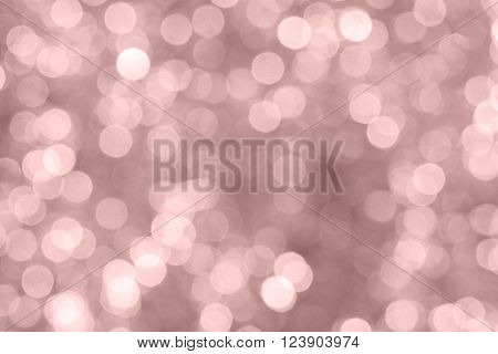 rose quartz pantone color bokeh blur light from the christmas night is beautiful background