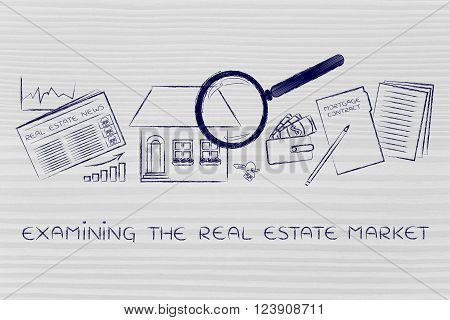 House, Real Estate Data And Contract, Examining The Market