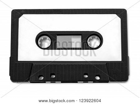 Audio cassette tape isolated on white background with clipping path