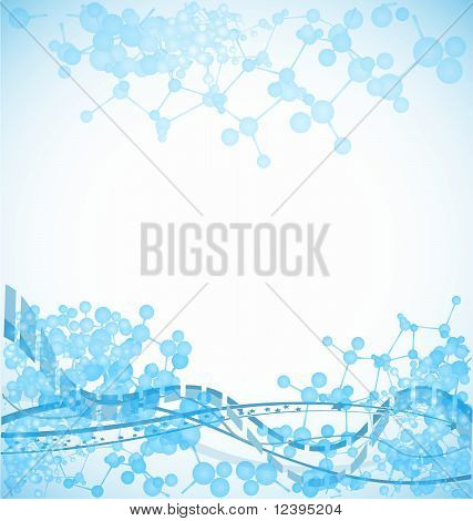 science background with bulky molecules