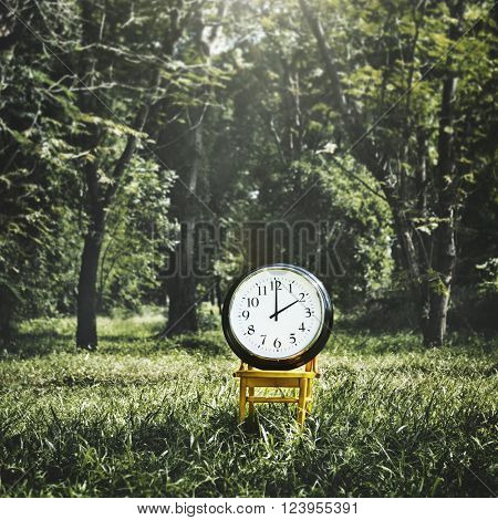 Clock Instrument of Time Appointment Management Concept