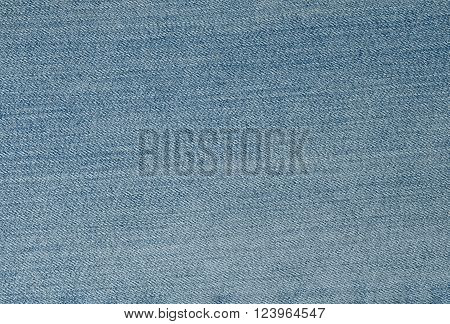 Fabric Texture Close Up of Blue Denim Jean Texture Pattern Background.
