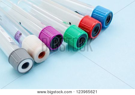 Medical Blood tube test tube for laboratory in laboratory.