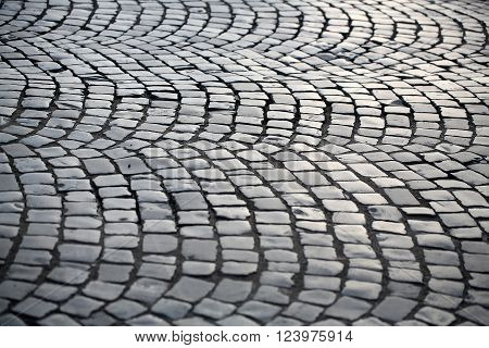 Pavement Laid In Circular Pattern