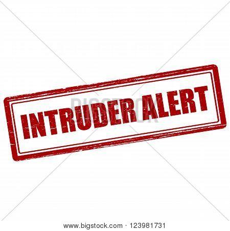 Rubber stamp with text intruder alert inside vector illustration`