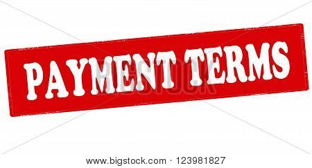 Rubber stamp with text payment terms inside vector illustration`