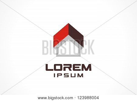 Icon design element. logo for business company. Construction, house, up arrow, building, technology concepts.  Pictogram for corporate identity template. Stock Illustration Vector
