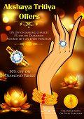 illustration of Akshaya Tritiya celebration jewellery Sale promotion poster