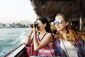 Girls Photography Traveling Trip Sightseeing Concept poster