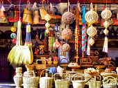 these are the handicrafts being sold at Our Lady of Manaoag in Pangasinan Philippines poster