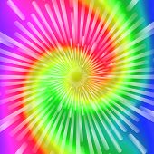 Tie Dye Colors. Beautiful Realistic spiral tie-dye vector illustration. poster