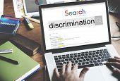 Discrimination Distinction Unfair Unjust Bias Racial Concept poster