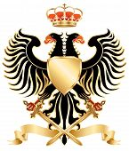 Eagle, Royal Coat of Arms. Vector illustration poster