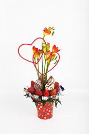 Strawberries, Chocolates, and Hearts