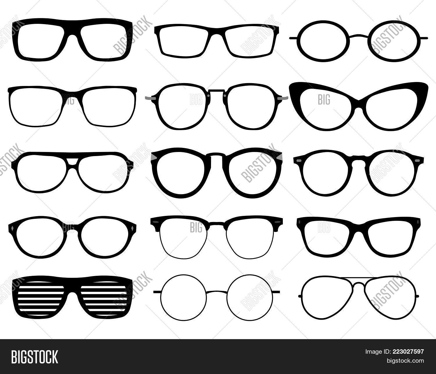 Glasses Model Icons, Image & Photo (Free Trial) | Bigstock