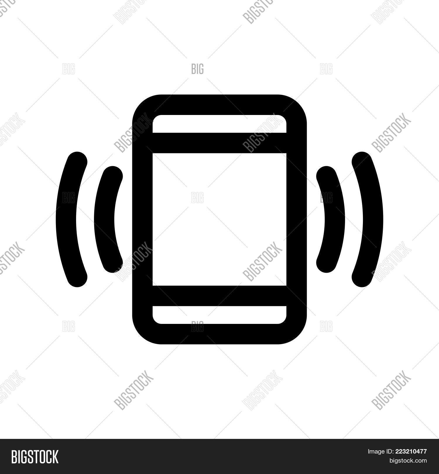 Phone Vibration Icon Vector Photo Free Trial Bigstock