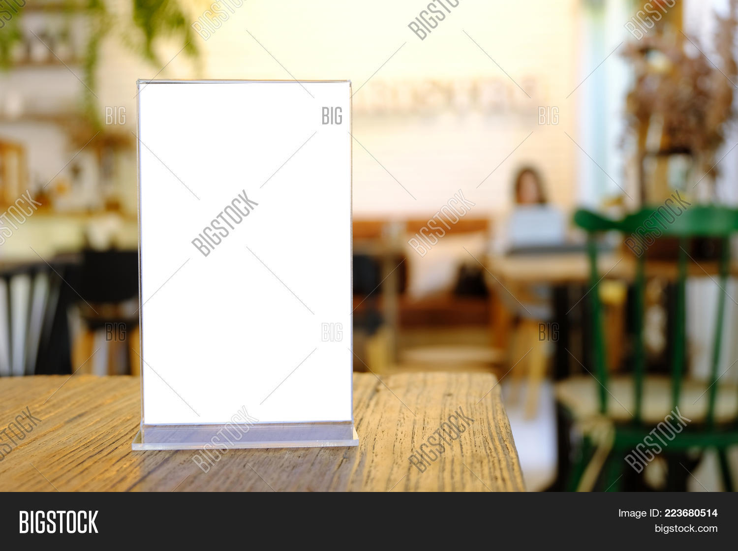 Mock Menu Frame Image Photo Free Trial Bigstock - Standing table for restaurant