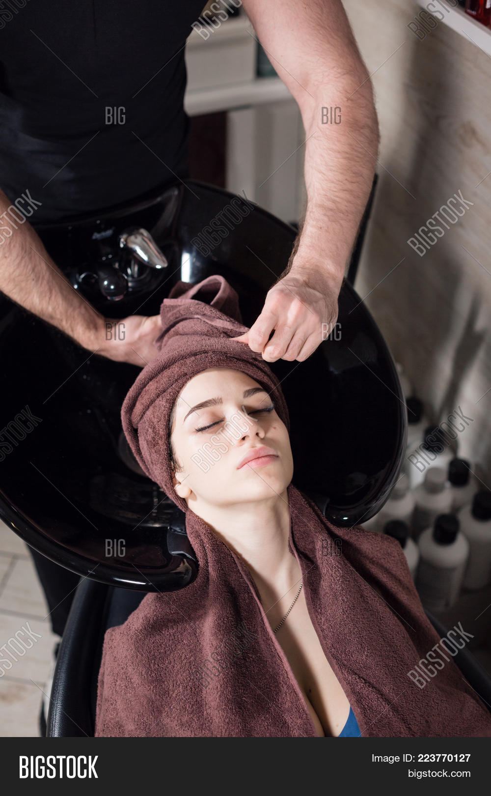 Beautiful Girl Washes Image Photo Free Trial Bigstock