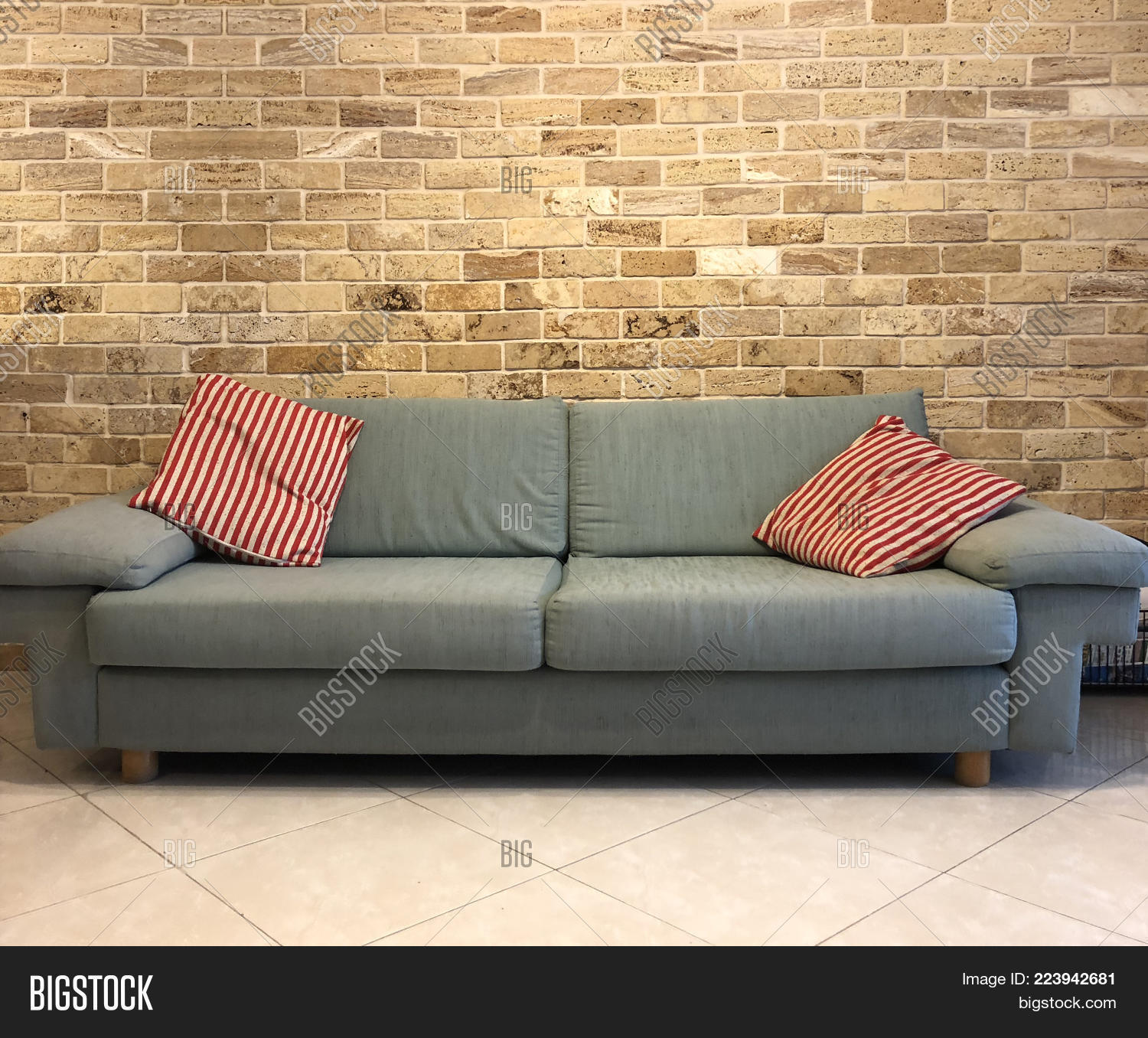 Green Sofa Red Striped Image & Photo (Free Trial) | Bigstock