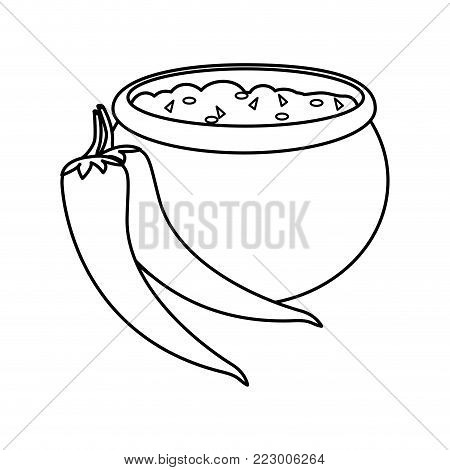 Pepper of vegetable healthy and organic food theme Isolated design Vector illustration