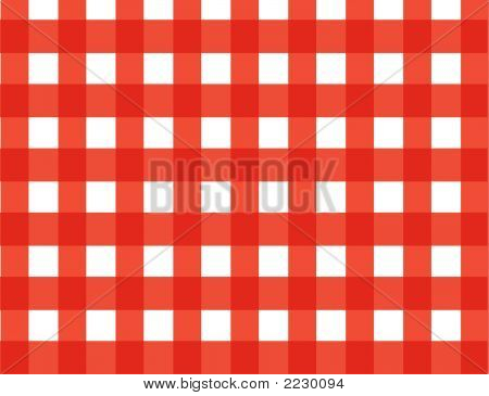 red gingham plaid (vector) - illustrated background poster