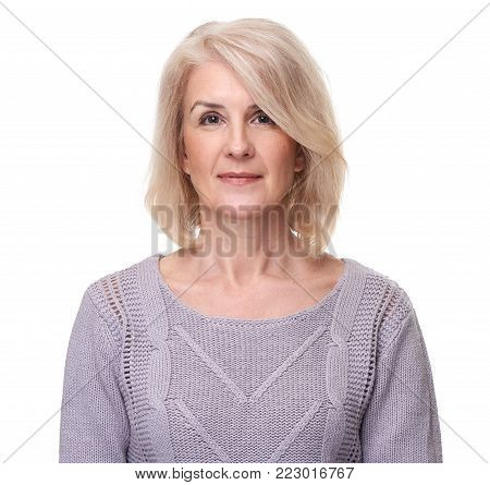 Portrait Of Happy Aged Woman